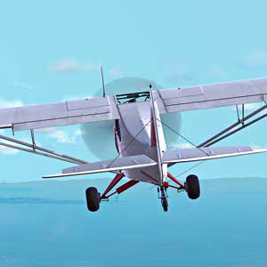Dovetail Games Flight School - Piper PA-18 Super Cub White-Red