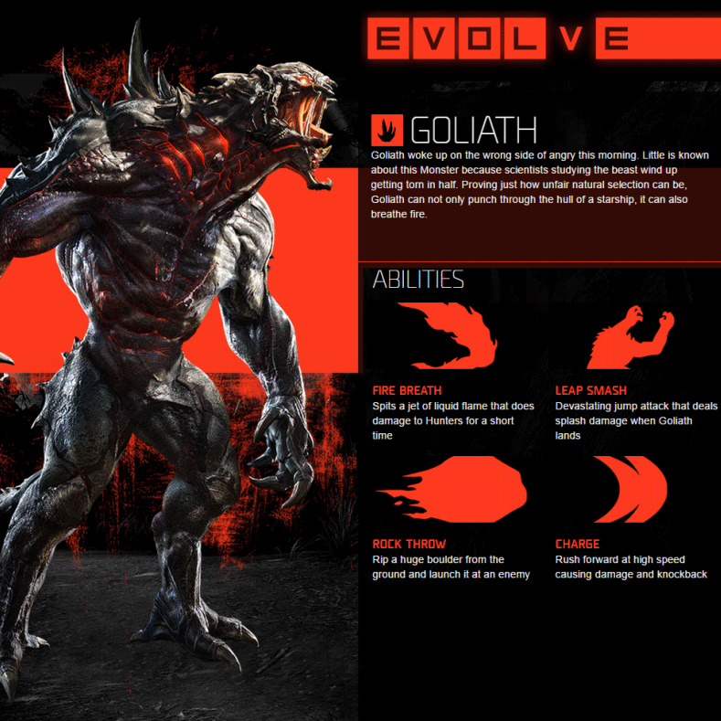 Evolve Xbox One - Goliath Abilities