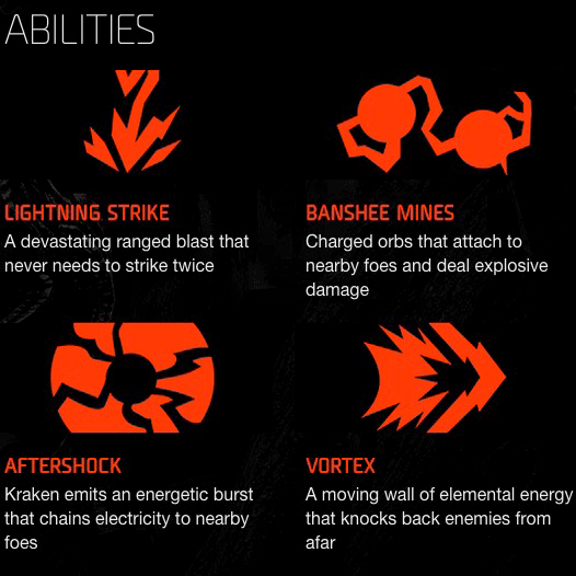 Evolve Xbox One - Kraken Abilities