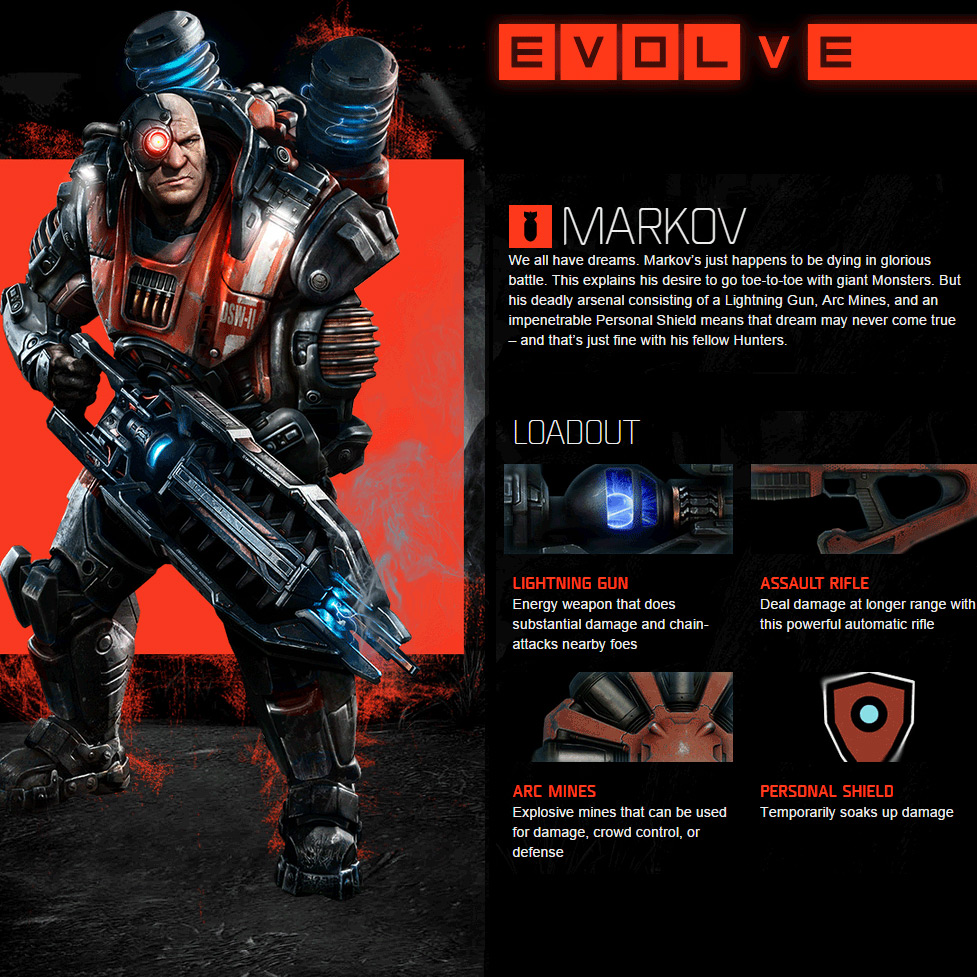 Evolve Xbox One Markov - Abilities