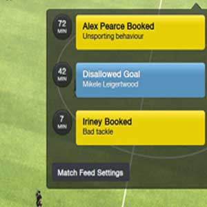 Football Manager 2016 - Match Feed Settings