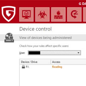 G Data Total Security - Device Control