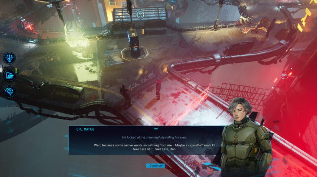 Gamedec dialogue