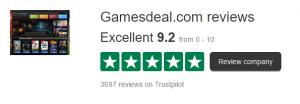 gamesdeal trustpilot