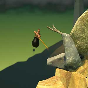 Getting Over It with Bennett Foddy - move the hammer