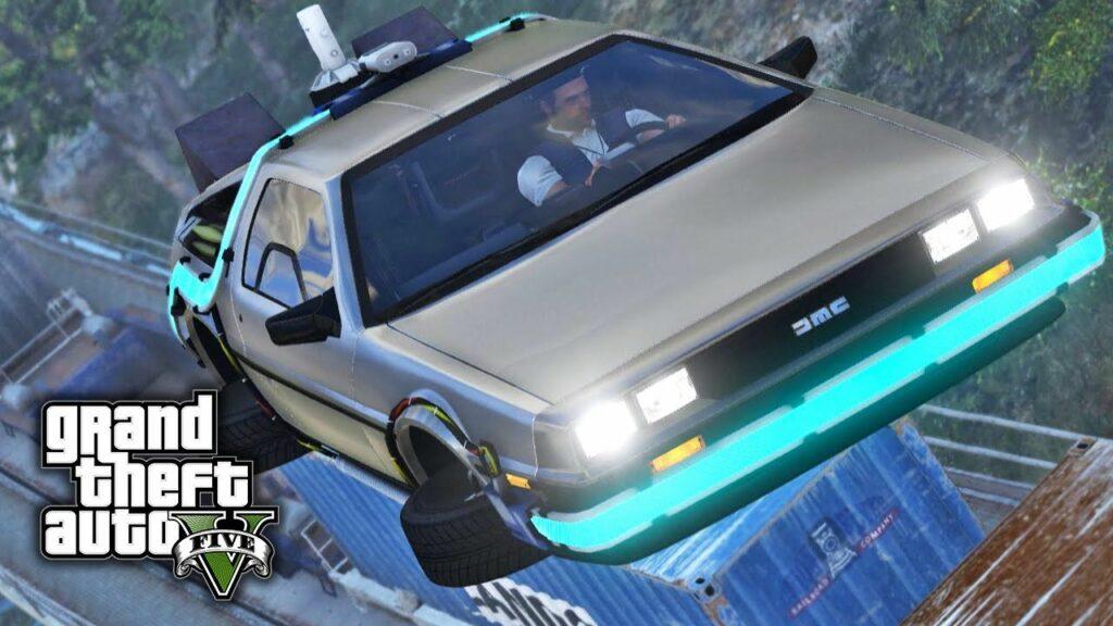 Grand Theft Auto Flying Delorean