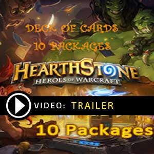 Hearthstone Heroes of Warcraft Deck of Cards 10 Packages Gamecard Code Price Comparison