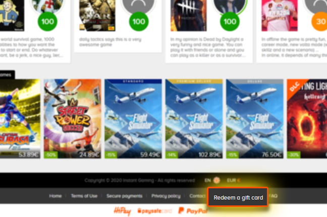 Step by Step on How to Redeem Instant Gaming Gift Cards