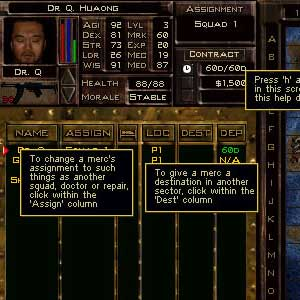 Jagged Alliance 2 Unfinished Business - Interface