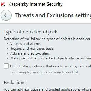 Kaspersky Anti Virus 2019 detection