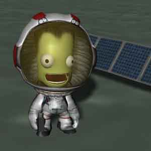 Kerbal Space - Kerbal in outer space