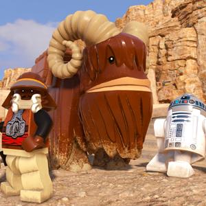LEGO Star Wars The Skywalker Saga - Lando Calrissian, Bantha, and R2D2