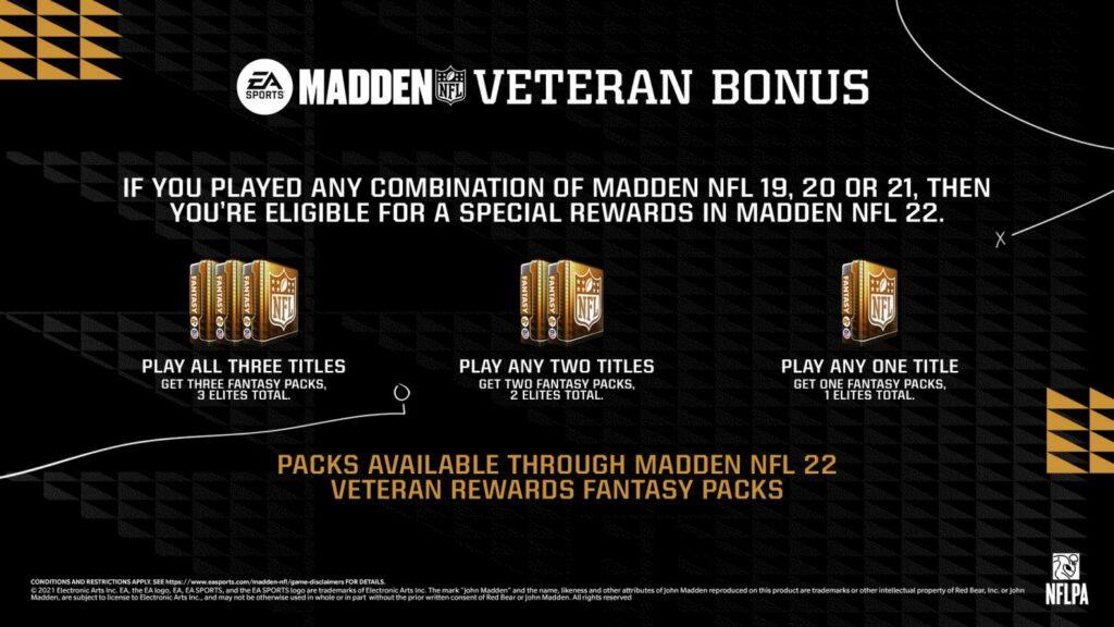 EA Play Madden NFL 22 Rewards
