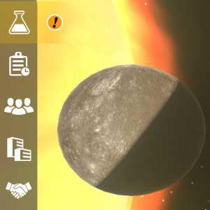 Mars Horizon Mercury and Venus