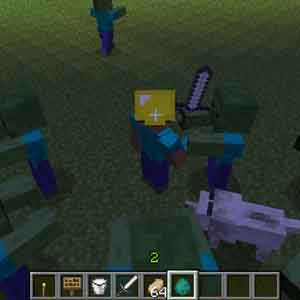 Minecraft Xbox One - Fighting Zombies