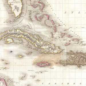 Naval Action -  Pinkerton Map Of The West Indies