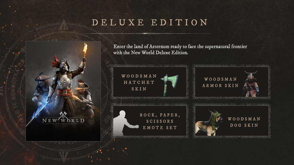 Purchase New World Deluxe Edition Steam