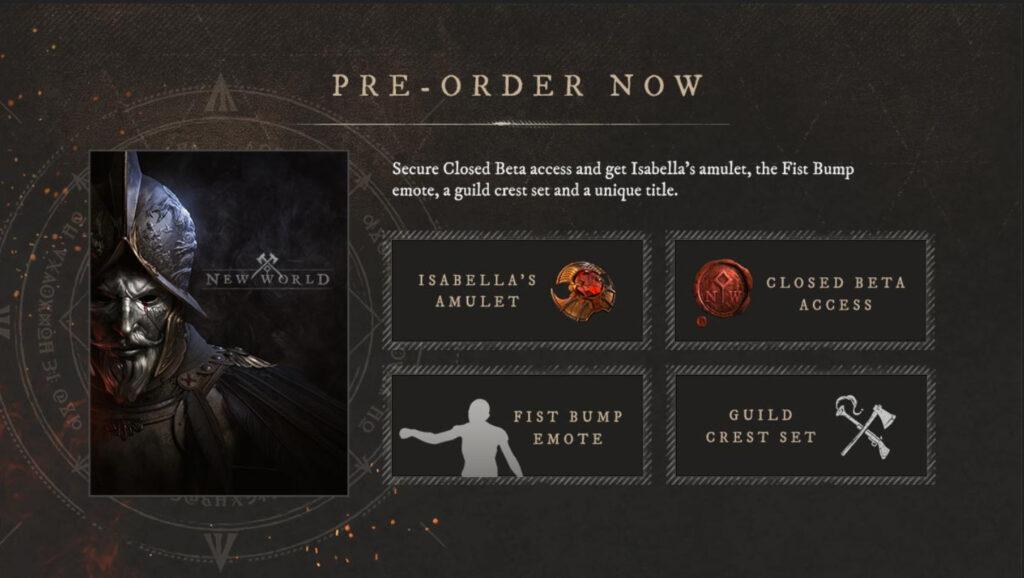 Pre-order New World CD Key Online
