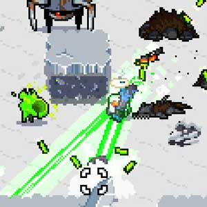 Laser Mini-gun in frozen cities