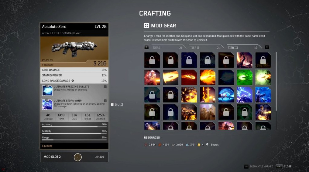 Outriders Crafting