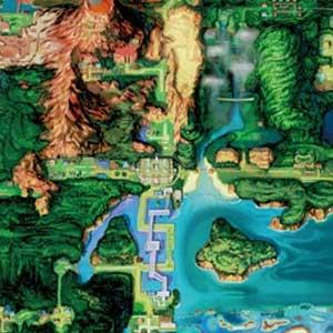 Pokemon Alpha Sapphire Nintendo 3DS Map