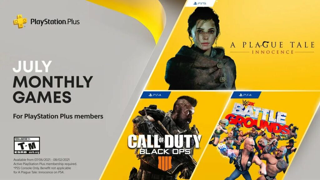 PS Plus July 2021 Games