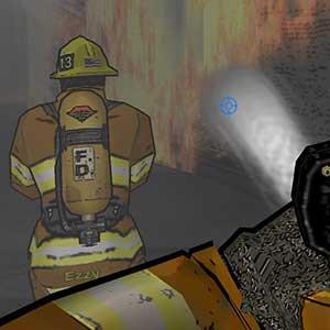 Inside the burning building