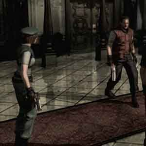 Resident Evil HD Remaster - Jill Valentine and Barry Burton.