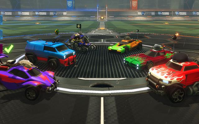Rocket League vehicles