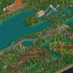 RollerCoaster Tycoon 2 Triple Thrill Pack Aerial View