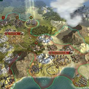 Map of Sid Meier's Civilization V