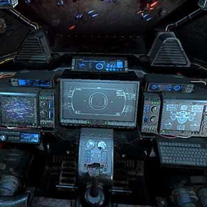 Spaceship cockpit