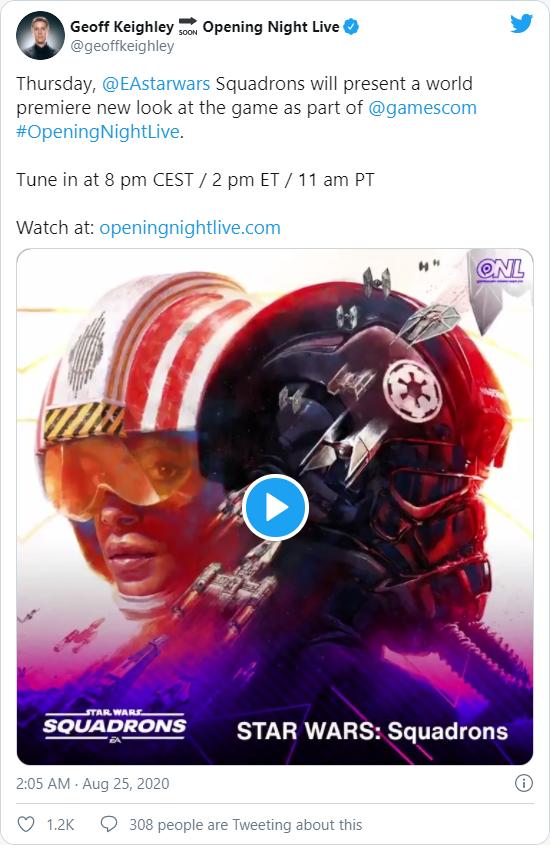 Star Wars: Squadrons Tweet