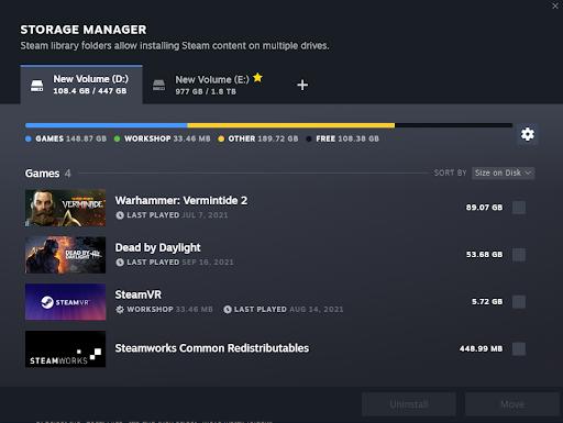 transfer Steam games to new folder easily 2021