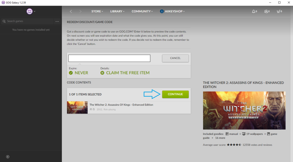 GOG Key Updated Successfully