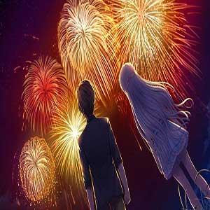 Hairi Takahara and Kamome Kushima watching fireworks