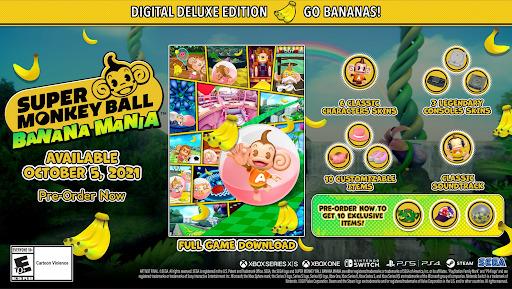 buy Super Monkey Ball Banana Mania deluxe edition