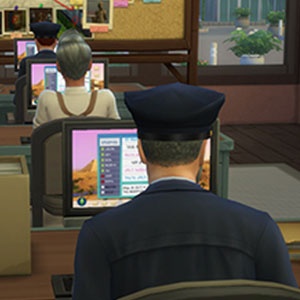 The Sims 4 Get to Work Office