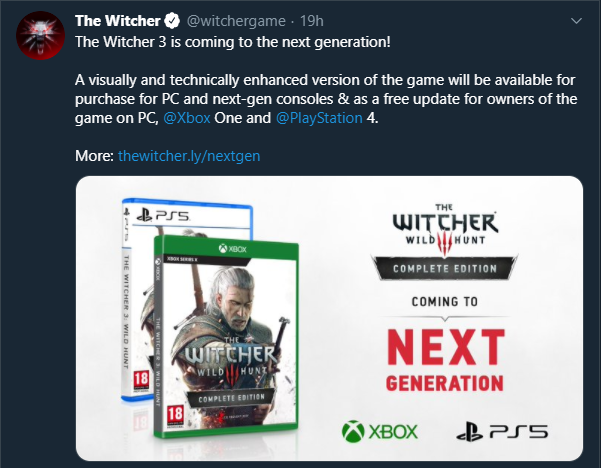 The Witcher 3 Next Generation Announcement