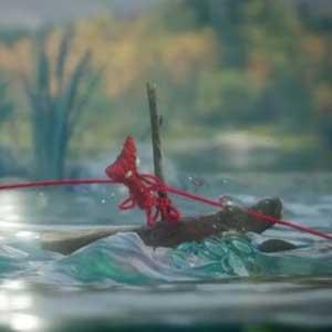 Unravel - Yarn swing from tree branch