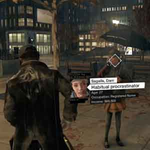 Watch Dogs PS4 - Analyzing people