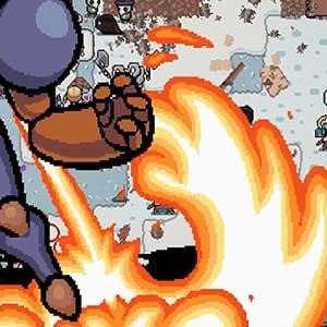 Exhilarating pixel shooter action