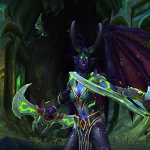 A female night elf demon hunter