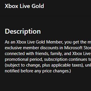 Xbox Live Gold Membership 12 Months Subscription Description